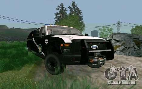 Ford F-250 Bone County Ultimate Response para GTA San Andreas