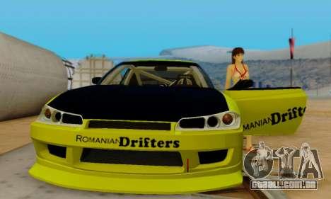 Nissan Silvia S15 Romanian Drifters para GTA San Andreas vista superior