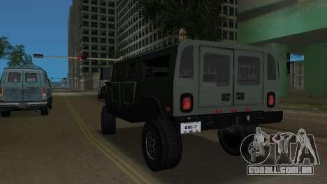 Hummer H1 Wagon para GTA Vice City vista traseira esquerda