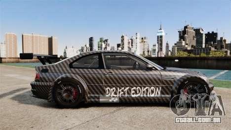 BMW M3 GTR 2012 Drift Edition para GTA 4 esquerda vista