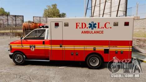 Brute FDLC Ambulance para GTA 4 esquerda vista