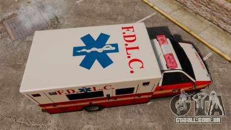 Brute FDLC Ambulance para GTA 4 vista direita