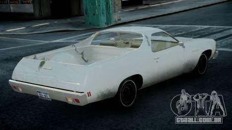 Chevrolet El Camino 1973 Old para GTA 4 esquerda vista