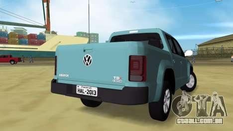 Volkswagen Amarok 2.0 TDi AWD Trendline 2012 para GTA Vice City deixou vista