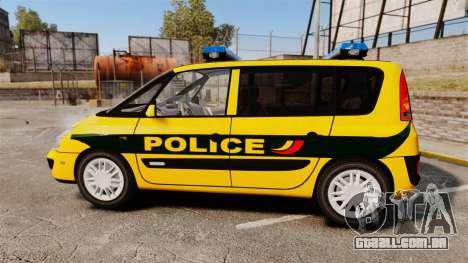 Renault Espace Police Nationale [ELS] para GTA 4 esquerda vista