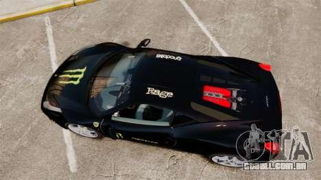 Ferrari 458 Italia 2010 Monster Energy para GTA 4 vista direita
