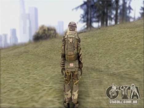 Soldados Da República popular Da China para GTA San Andreas por diante tela