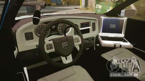 Dodge Charger 2011 LCPD [ELS] para GTA 4 vista de volta