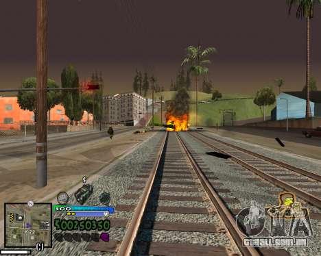 Vista da primeira pessoa para GTA San Andreas sétima tela