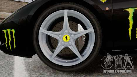 Ferrari 458 Italia 2010 Monster Energy para GTA 4 vista de volta