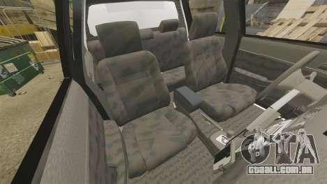 Toyota Hilux Police Western Australia para GTA 4 vista interior
