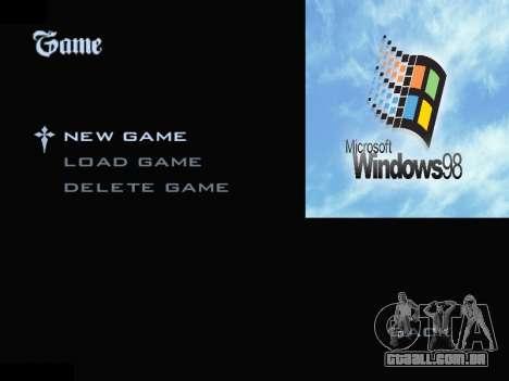 O Menu Do Windows para GTA San Andreas segunda tela