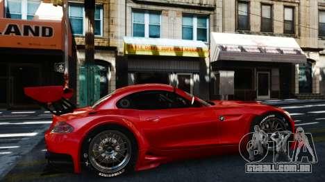 BMW Z4 GT3 2012 para GTA 4 esquerda vista
