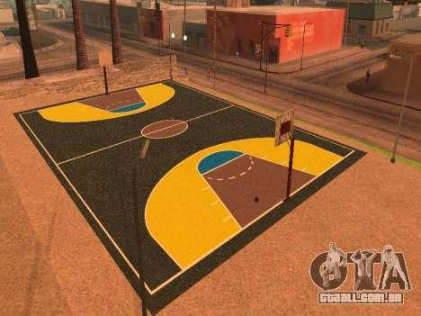 Nova quadra de basquete para GTA San Andreas quinto tela