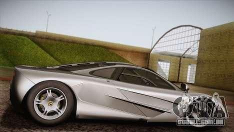 McLaren F1 para GTA San Andreas esquerda vista