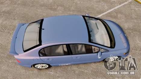 Honda Civic Si 2008 para GTA 4 vista direita