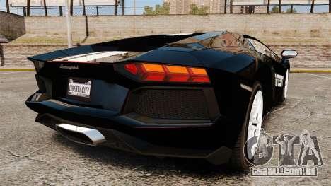 Lamborghini Aventador LP700-4 2012 [EPM] NFS para GTA 4 traseira esquerda vista