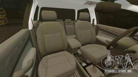 Ford Mondeo Croatian Police [ELS] para GTA 4 vista inferior
