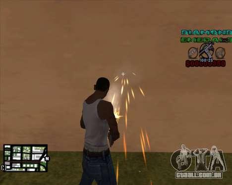 C-HUD Diamond Emerald para GTA San Andreas segunda tela