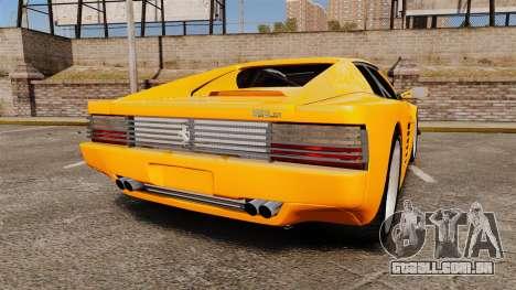 Ferrari Testarossa 512 TR v2.0 para GTA 4 traseira esquerda vista