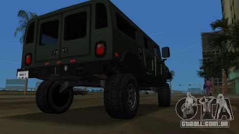 Hummer H1 Wagon para GTA Vice City vista direita