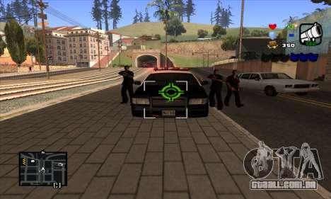 C-HUD Lite para GTA San Andreas quinto tela