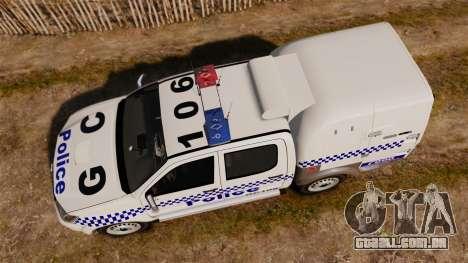 Toyota Hilux Police Western Australia para GTA 4 vista direita