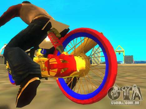 Drag Mio Full GOLD para GTA San Andreas vista traseira