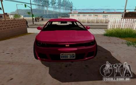 Dinka Blista GTA V para GTA San Andreas esquerda vista