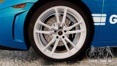 Lamborghini Gallardo Gendarmerie National [ELS] para GTA 4 vista de volta