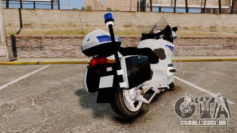 BMW R1150RT Police nationale [ELS] v2.0 para GTA 4 traseira esquerda vista