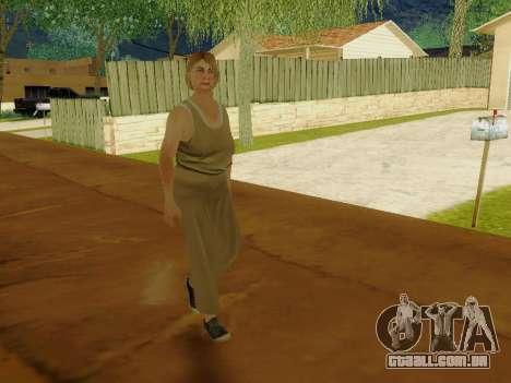 Mulher idosa para GTA San Andreas sexta tela
