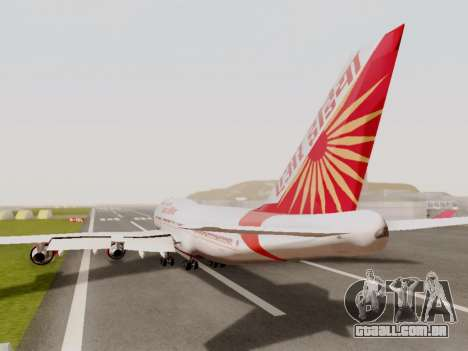 Boeing 747 Air India para GTA San Andreas vista traseira