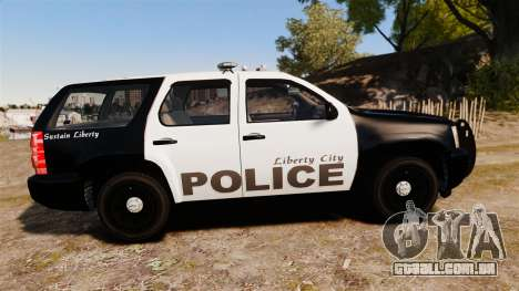 Chevrolet Tahoe 2008 LCPD [ELS] para GTA 4 esquerda vista