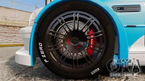 BMW M3 GTR 2012 Most Wanted v1.1 para GTA 4 vista de volta