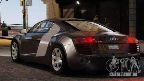 Audi R8 v1.1 para GTA 4 traseira esquerda vista