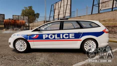 Ford Mondeo IV Wagon Police Nationale [ELS] para GTA 4 esquerda vista