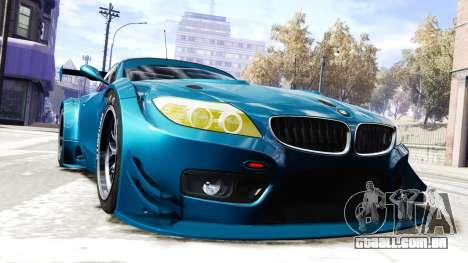BMW Z4 GT3 2012 para GTA 4 vista direita