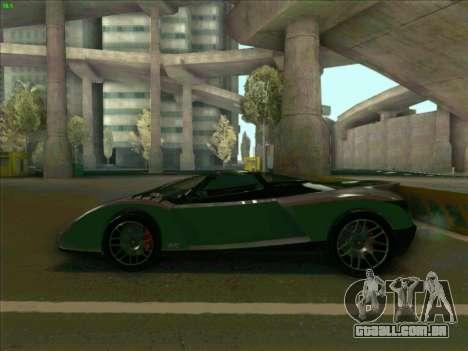 Cheetah Grotti GTA V para GTA San Andreas esquerda vista