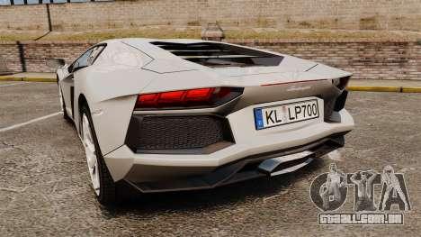 Lamborghini Aventador LP700-4 2012 [EPM] v1.1 para GTA 4 traseira esquerda vista