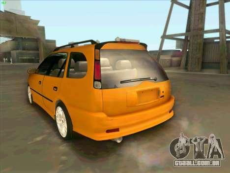 Toyota Carib para GTA San Andreas esquerda vista