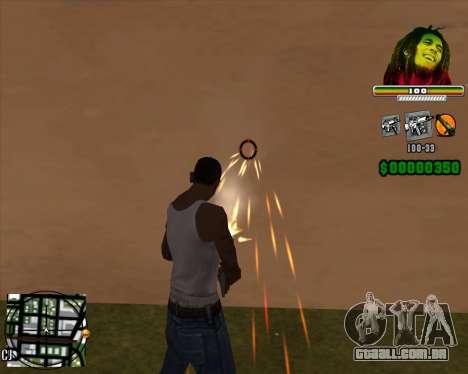 C-HUD Bob Marley para GTA San Andreas segunda tela