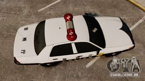 Ford Crown Victoria Japanese Police [ELS] para GTA 4 vista direita