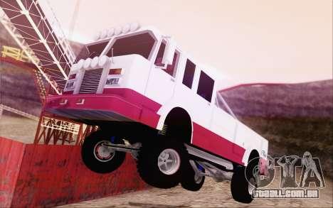 Offroad Firetruck para GTA San Andreas esquerda vista