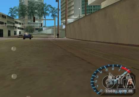 O velocímetro de NFS Underground para GTA Vice City quinto tela