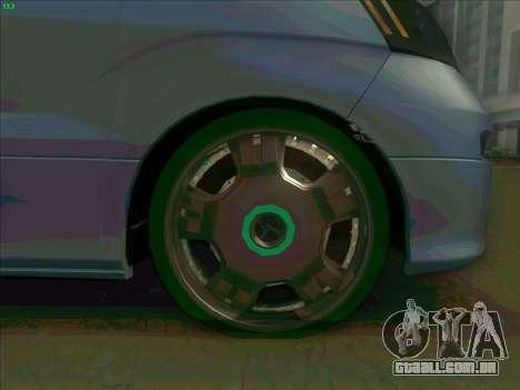 Toyota Alphard para vista lateral GTA San Andreas