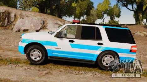 Ford Expedition Japanese Police SSV v2.5F [ELS] para GTA 4 esquerda vista