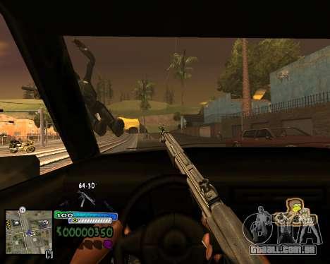 Vista da primeira pessoa para GTA San Andreas terceira tela