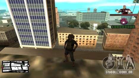C-HUD Iron Man para GTA San Andreas segunda tela