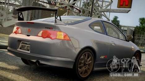 Honda Mugen Integra Type-R 2002 para GTA 4 esquerda vista